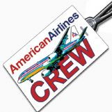 American Airlines 757 Crew Tag
